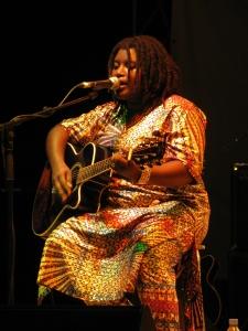 Rokhaya Loum, singing a ballad.