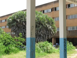 A view of the main classroom building from my research center, CREDILA.
