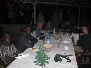 Christmas Eve dinner in Djenne, Mali.